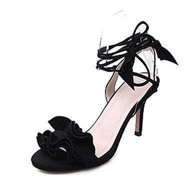 LvYuan Da donna-Sandali-Matrimonio Formale Serata e festa-Cinturino alla caviglia Club Shoes-A stiletto-Scamosciato-Nero Verde Rosa Rosso Red