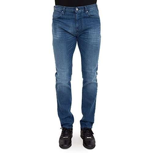 Armani Jeans Men's J45 Blue Slim Fit Jeans Bleu