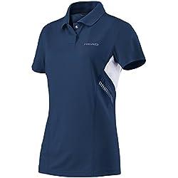 Head Club Technical Polo de la mujer camiseta, mujer, color azul marino, tamaño S