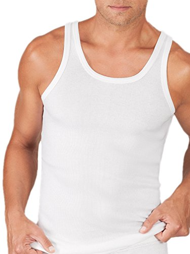 ESGE Sportjacke / Athletic-Shirt, Doppelripp, 5er Pack Weiß
