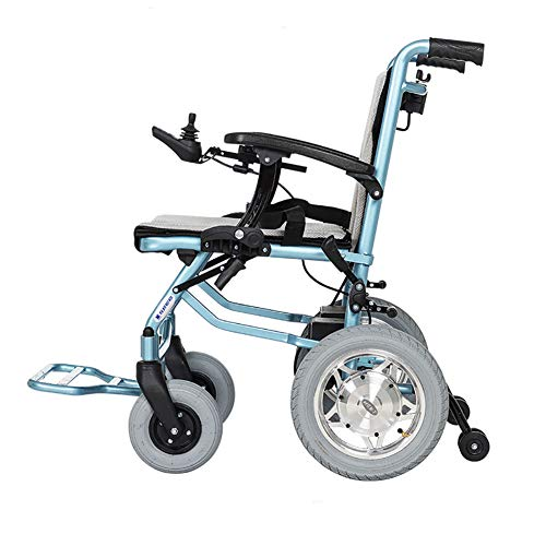 OOFA Elektrischer Rollstuhl Leichter Faltbar 5.2AH Li-Ionen-Akku Ausdauer 20 km 600 W schwanzloser Motor Doppelte Kontrolle Elektrischer Rollstuhl 19kg,1