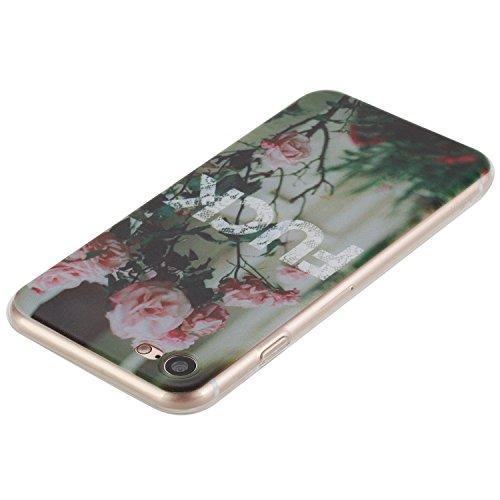 "iPhone 7 Silicone Case,iPhone 7 Coque - Felfy Coque Souple Transparente TPU Silicone en Gel Case Premium Ultra-Light Ultra-Mince Skin de Protection Pare-Chocs Anti-Choc Bumper pour Apple iPhone 7 4.7"" Fuck Bumper"