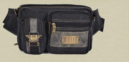 Zll/New Canvas Herren Casual Multifunktions Tasche Schultertasche Messenger Bag Outdoor Bag Schwarz