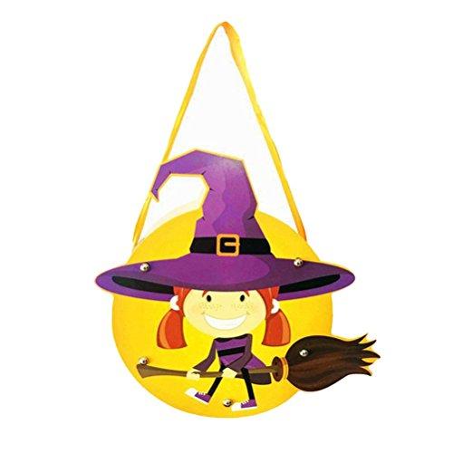 e Kind-Handarbeit DIY Karikatur-Geist-Schloss-Kürbis-Beutel-Handtasche für Geschenk-Süßigkeit (2#) (Cartoon Halloween Schablonen)