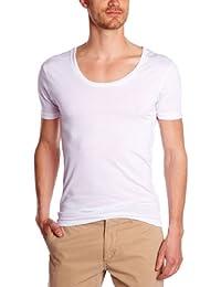 Eleven Paris Herren T-Shirt L2 BASIC LARGE NECK SS, Einfarbig