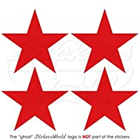 """RUSSIA Russian AirForce USSR Soviet WWII Red Star Aircraft Roundels 2"""" (50mm) Vinyl Stickers, Decals x4"""