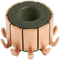 sourcing map 7,14mm Rolle Durchmesser 12 Zahnrad Zahn Kupfer Mountiert An Anker Kommutator DE de