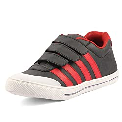 Golden Sparrow MenS Red Fabric Synthetic Casual Shoe (Tm-D63-07)- 7 Uk