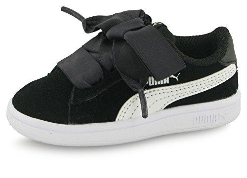 Puma Puma Smash v2 Ribbon AC In - puma black-puma white, Größe:3 (Mädchen Puma Schuhe Größe 3)