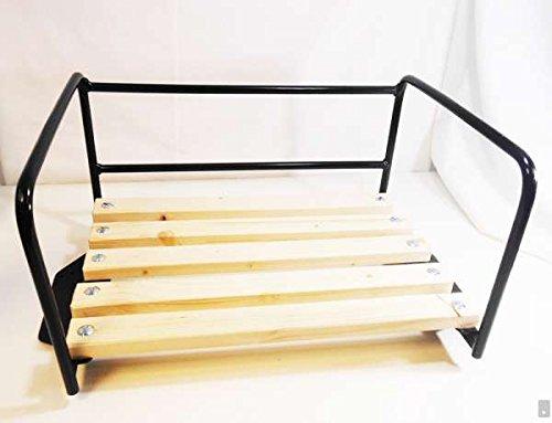 Preisvergleich Produktbild Traktor-Sitz Schwarz mit Bügel für Beifahrer / Sozius-Sitzbank / Traktorsitz Trecker Kotflügel Schlepper Kinder Bank Beifahrersitz Stuhl Sessel Platz Schlepper