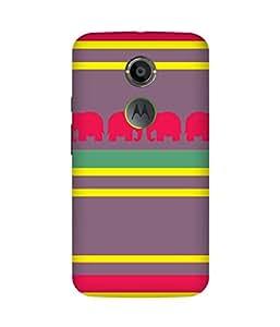 Stripes And Elephant Print (33) Motorola Moto X2 Case
