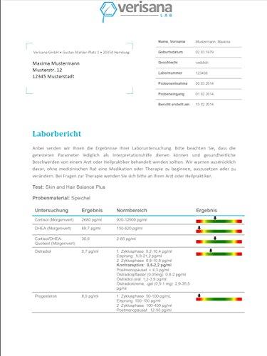 Verisana Hormonprofil Mann Östradiol, Progesteron, Testosteron, DHEA & Cortisol | Hormone Männer testen per Speicheltest - 6
