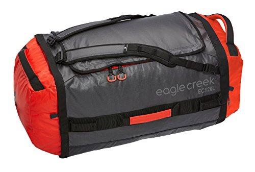 Eagle Creek Wasserabweisender Backpacker Cargo Hauler Duffel ultraleichte Reisetasche mit Rucksacktragegurten Sac de voyage, 80 cm, 120 liters, Rouge ...