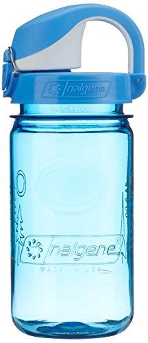 Nalgene Kinder Kunststoffflasche Everyday OTF Trinkflasche, blau Wald, 0.375 L