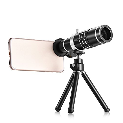 TECHO Universal 18X Teleobjektiv Professionelle Kamera Objektiv Kit für iPhone X 8 7 6S Plus SE, Samsung Galaxy S9 S8 S7 Edge Google & die meisten Smartphones