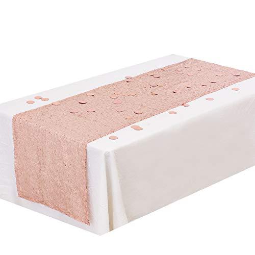 Whaline paillettes runner glitter oro rosa 30,5x 274,3cm con 30g foil confetti decorazione per festa di nozze birthday baby shower