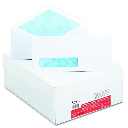 Preisvergleich Produktbild Office Impressions 82291 Office Impressions Security Tint Window Envelopes,  10,  White,  500 / Box by Office Impressions