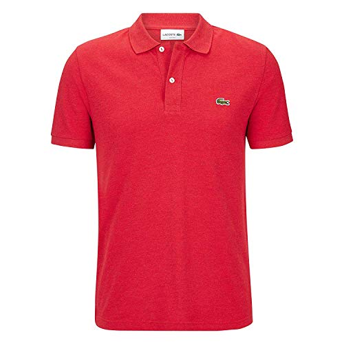 Lacoste PH4012 Herren Polo Shirt Kurzarm,Männer Polo-Hemd,2 Knopf,Slim Fit,CLUSI Chine(9QA),Large (5) -