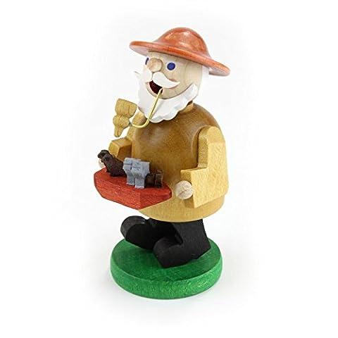Glässer 26364 Noah incense burner traditional wooden handmade German Christmas decoration, 11 cm