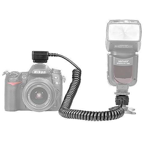Neewer 9.8 Fuß 3 m i-TTL-Blitzlicht Speedlite Kord für Nikon D3000, D3100, D3200, D3300, D5000, D5100, D5200, D5300, D5500, D7000, D7200, D7100, D90, D600, D800, D800E, P7000, P7100, 1 J1, 1 J2 und 1 V1 Digitale Spiegelreflex kamera mit irgendwelchen Type von Nikon SB910 SB900 SB800 SB700 SB600 SB500 SB400 SB300 Blitzbeleuchtung.