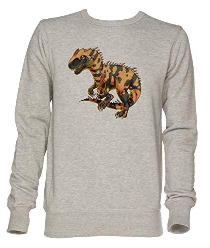 Allosaurus - Dinosaurier Unisex Grau Jumper Sweatshirt Herren Damen Größe XL | Unisex Jumper Sweatshirt for Men and Women Size XL