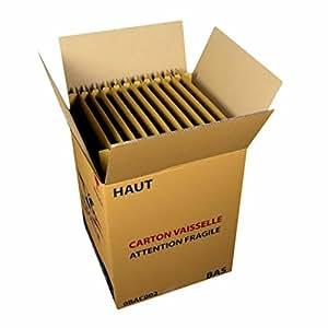 Carton pour déménagement 24,48 assiettes