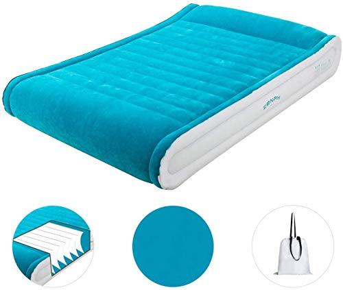 zenph cama hinchable,colchón hinchable doble,cama de aire, cama doble con colchón inflable grande, bomba eléctrica incorporada y colchón de aire integrado, 220 x 152 x 43 cm