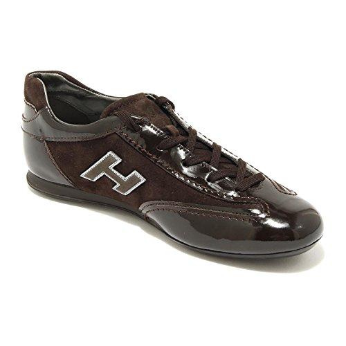 4871G sneaker donna marrone HOGAN olympia h flock scarpa shoes women testa di moro