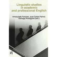 Linguistic studies in academic and professional english (Estudis Filològics)