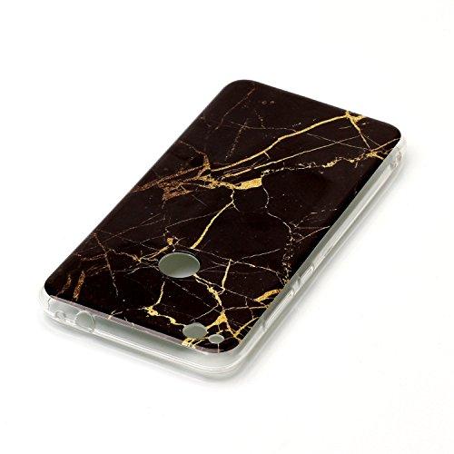Für Huawei P8 Lite 2017 Abdeckung Marmor Stein Textur Muster Anti-Kratzer Shockproof Ultra Slim Soft TPU Schutzmaßnahmen zurück Cover Case Shell ( Color : C ) I