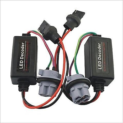 LIROOTCar 7440 T20 Luce LED cancellatore di avvertimento resistore di carico-Decoder -2PC
