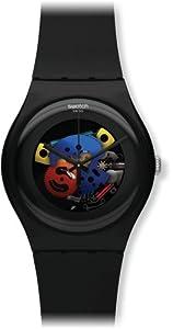 Swatch SUOB101 - Reloj analógico de cuarzo unisex con correa de plástico, color negro de Swatch