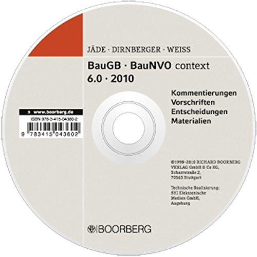 BauGB BauNVO context 6.0: Kommentierungen Vorschriften Entscheidungen Materialien 2010