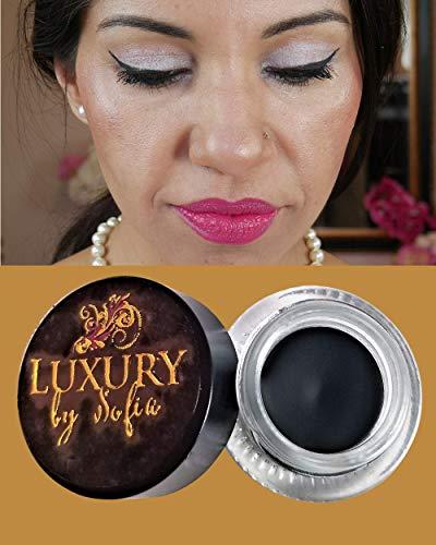Luxury by Sofia Luxus von Sofia Gel Eyeliner | Vegan, Organic & Natural Ingredients, Schweiß Beweis und Wasserdicht | Matte Finish Für atemberaubendes Aussehen | - Eyeliner Ingredients