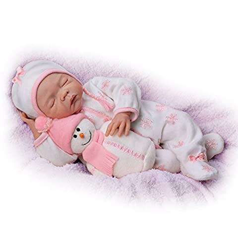 Denise Farmer 18 Inch Realistic Weighted Baby Girl Doll with Plush Snowman Pal by The Ashton-Drake Galleries by The Ashton-Drake