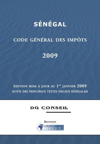 Sénégal, Code General des Impots 2009