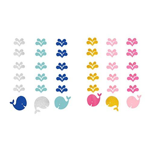 BESTOYARD 2 Sätze nautische Baby Dusche Dekorationen Wal hängende Ausschnitt für Baby Shower Geburtstag Party Decor (Pink und blau)