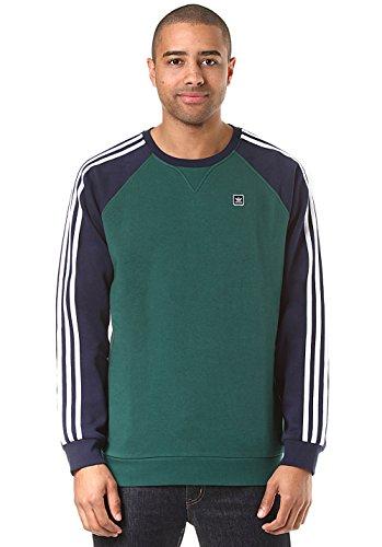 Adidas Skateboarding Herren Sweatshirt UNIFORM CREW , Größe:L, Farben:cgreen/nindig/white (Adidas Skateboarding)