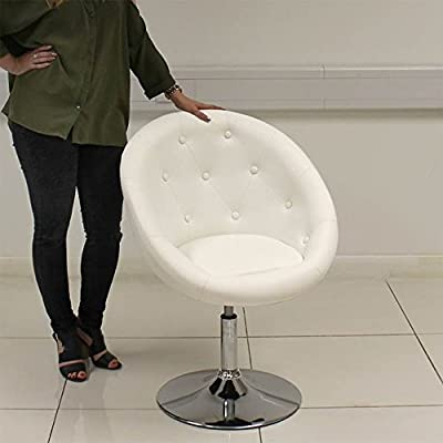BLACK / White Tub LEATHER STYLE BEAUTY SALON HAIRDRESSER CHAIR, BARBER CHAIR produced by Beauty4Less - quick delivery from UK.