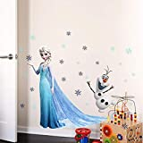 Smart Art Disney Frozen Wandaufkleber ELSA Olaf Wandtattoos Frozen DIY Aufkleber für Kinderzimmer Dekoration