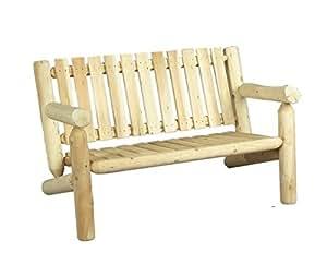 Sofa aus Holz, 2 Sitzer, 100% Zedernholz weiß natur, OEM b6kd, Cèdre & Rondins