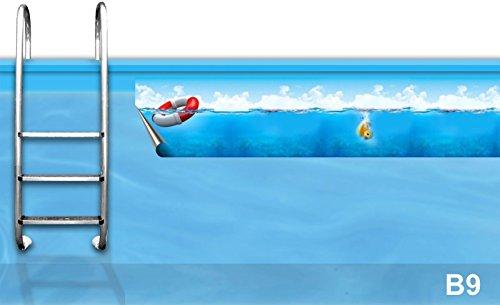 Bordüre Pool * Verzierung Poolrand * Borte Poolbecken * Randstreifen Swimmingpool *B9