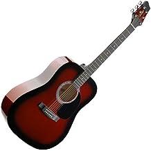 Stagg SW201RDS - Guitarra acústica con cuerdas metálicas (tipo dreadnought), ...