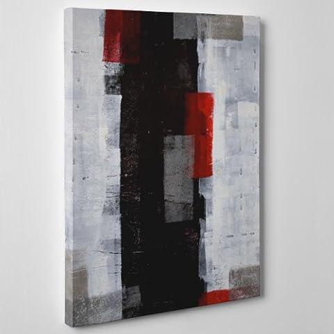 Leinwand modernen Malerei–Abstrakte Kunst–Grau, Rot Schwarz–Damien Hirst Style Pollock–(Cod. 100), Dicke: 4 cm (Galerie), schwarz/red, Size: 40x60 (Lichtenstein Moderne Malerei)