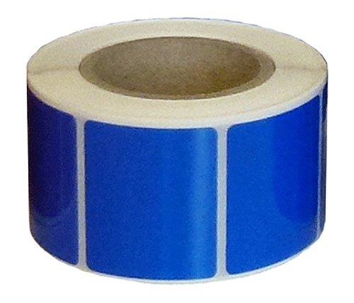Pro-System CSI64032 Sicherheitsetiketten, 38 mm Länge x 32 mm Breite, Blau Glänzend