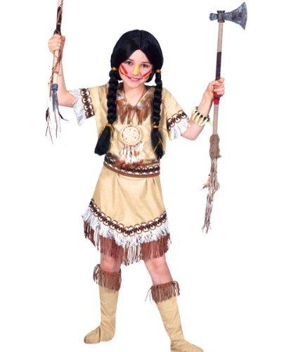 Generique - Indianer-Kostüm mit Fransen für Mädchen 128/140 -