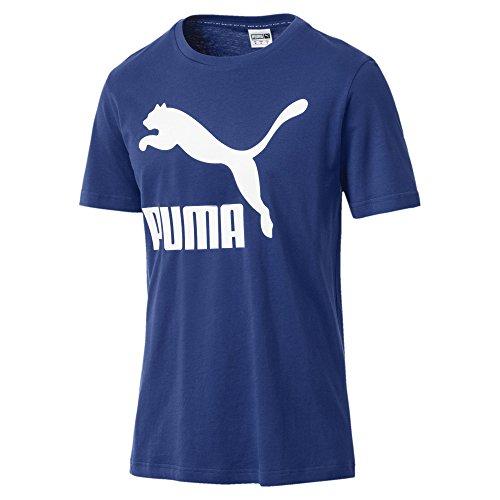 Puma uomo classics logo tee maglietta, uomo, 576321, blu -sodalite blue, l