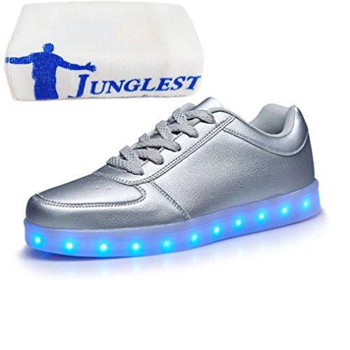 (Présents:petite serviette)JUNGLEST® KE Unisexe Multicolor USB Rechargeable Etanche 11 Chaussures Led Lumière Nuit Courir Chaus