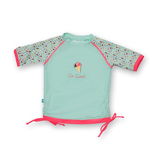 Bambina-Costumi Da Bagno-Anti UV- Ice Cream - T Shirt + Bikini - Elly La Fripouille® (6-12 mesi)
