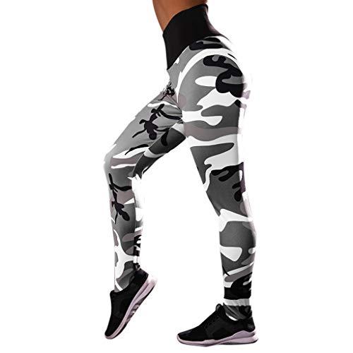 Felicove Leggings für Damen, Frühling Tarnung Leggings Jogginghose Lang Blickdicht Leggings High Wasit Leggings Workout Trainingshose Leggings Sportswear Style Hose Damen Sport Leggings